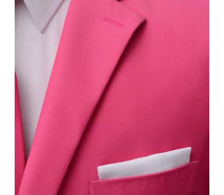 vidaXL Costume pour hommes avec cravate 2 pièces Rose Taille 46[3/8]