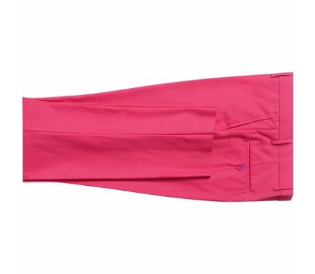vidaXL Costume pour hommes avec cravate 2 pièces Rose Taille 46[5/8]