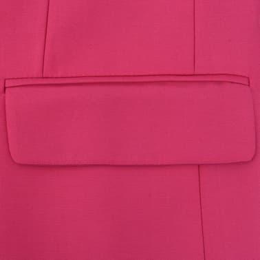 vidaXL Costume pour hommes avec cravate 2 pièces Rose Taille 46[4/8]