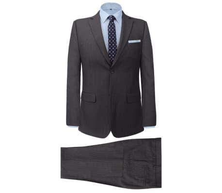 vidaXL Costum bărbătesc business, mărime 48, gri striat, 2 piese[1/8]