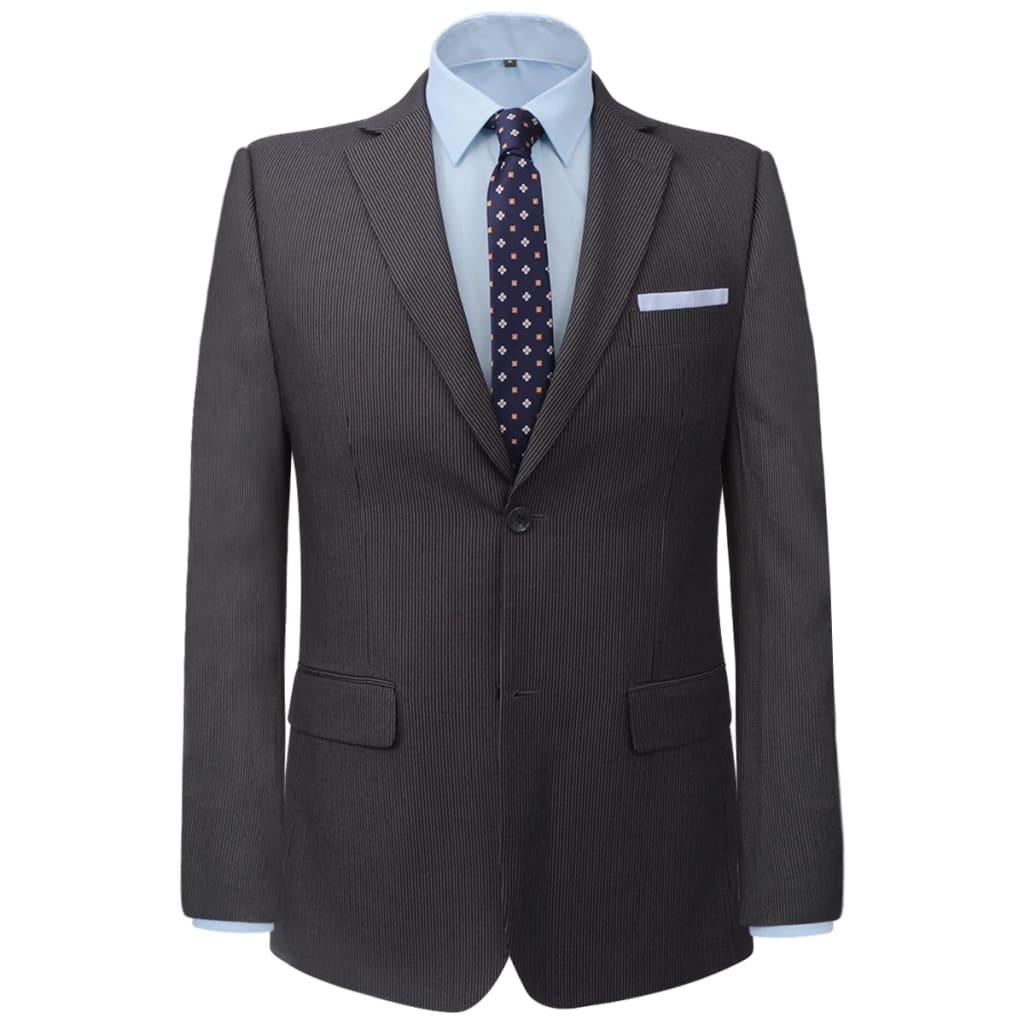 vidaXL Pánský dvoudílný business oblek šedý proužek, vel. 48