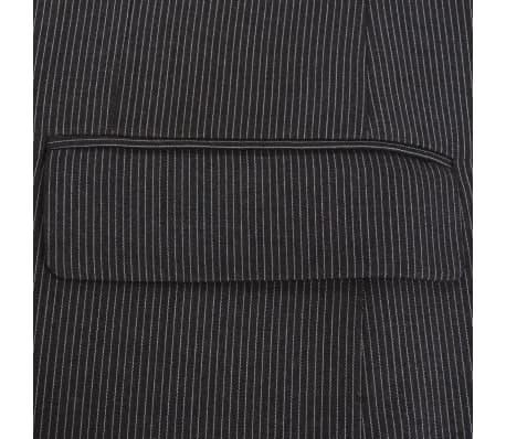 vidaXL Costum bărbătesc business, mărime 48, gri striat, 2 piese[4/8]