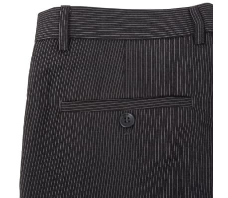 vidaXL Costum bărbătesc business, mărime 48, gri striat, 2 piese[6/8]
