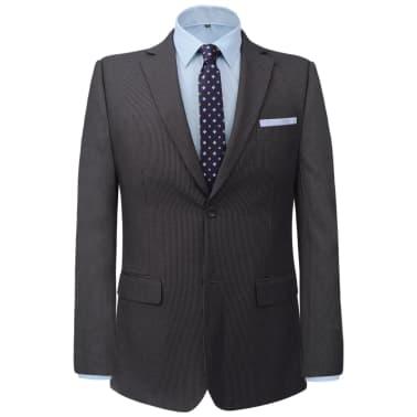 vidaXL Costum bărbătesc business, mărime 48, gri striat, 2 piese[2/8]
