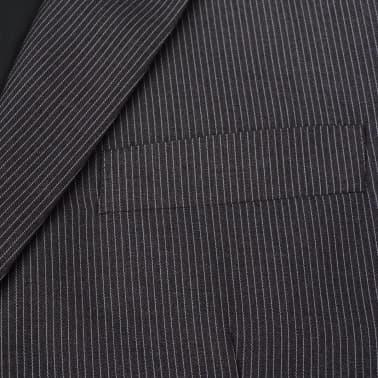vidaXL Costum bărbătesc business, mărime 48, gri striat, 2 piese[3/8]