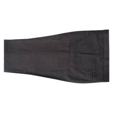 vidaXL Costum bărbătesc business, mărime 48, gri striat, 2 piese[5/8]