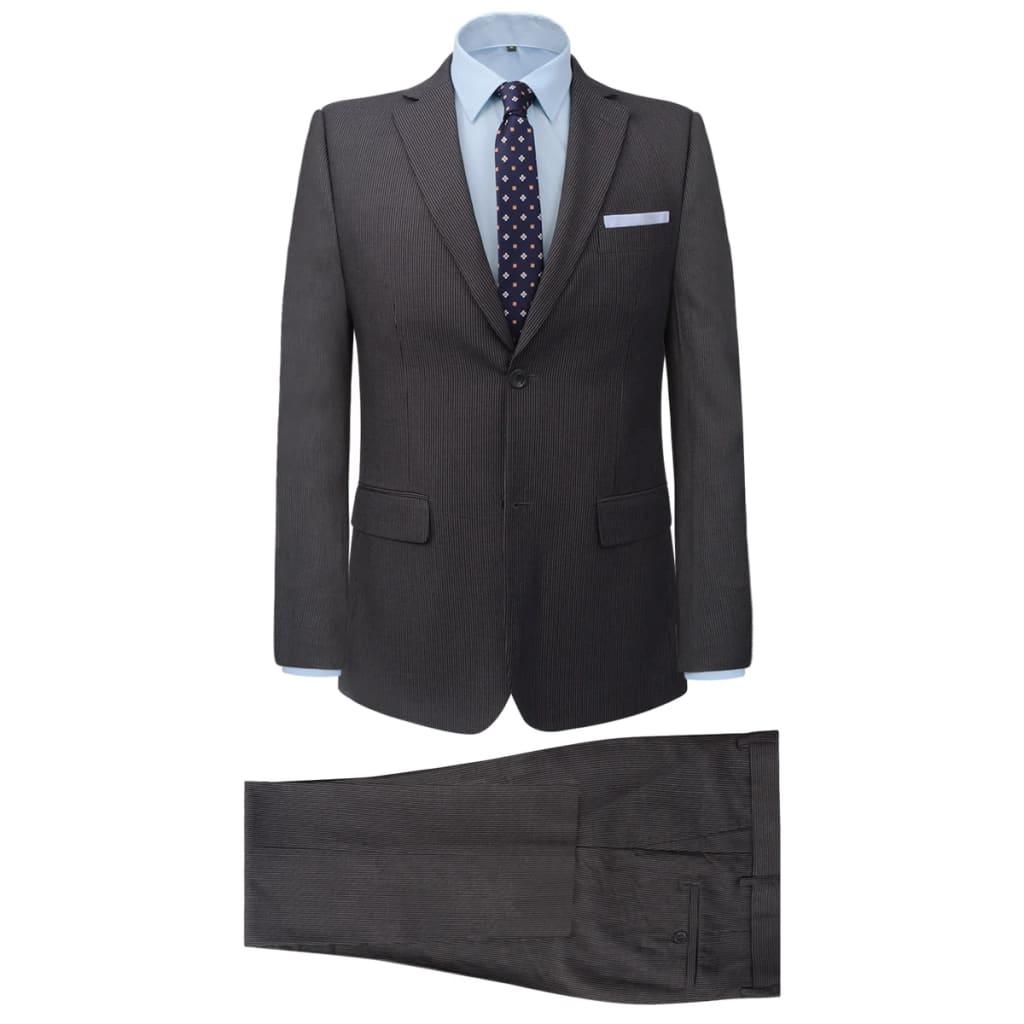 vidaXL 2-częściowy garnitur biznesowy męski szary w paski rozmiar 50