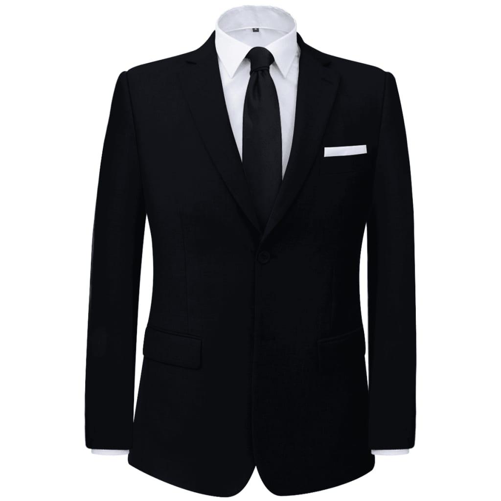 vidaXL Pánský dvoudílný business oblek černý, vel. 48