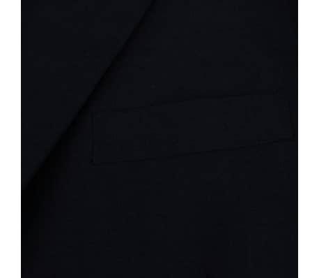 vidaXL Costum bărbătesc 2 piese mărimea 48, Negru[3/8]