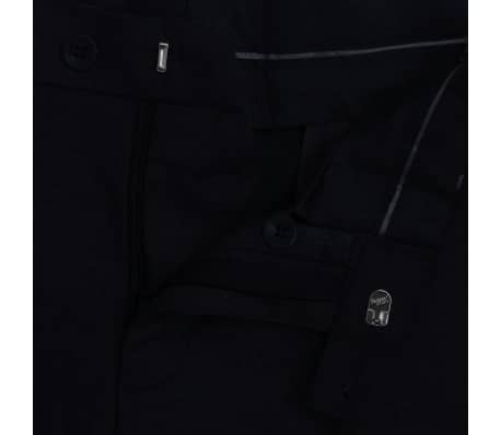 vidaXL Costum bărbătesc 2 piese mărimea 48, Negru[7/8]