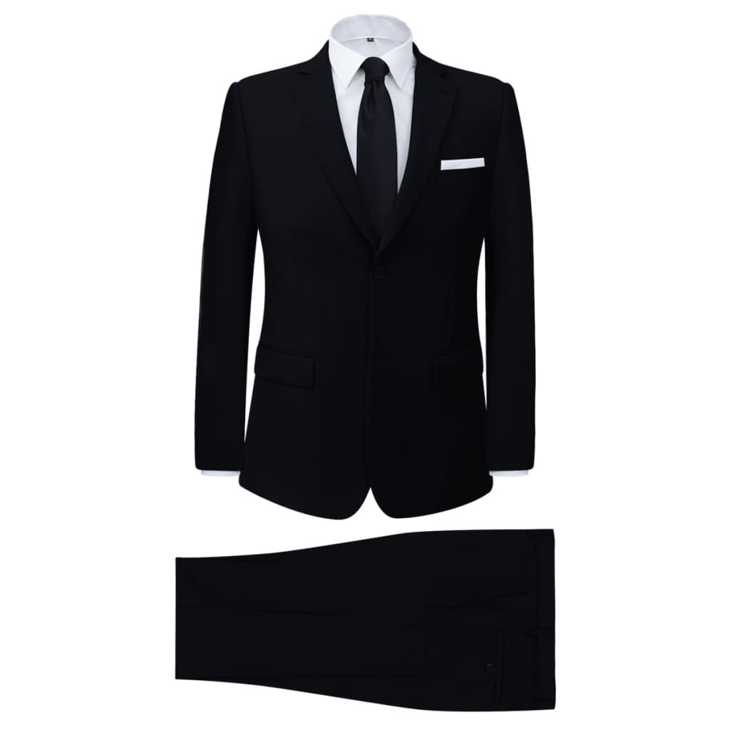vidaXL Pánský dvoudílný business oblek černý, vel. 52