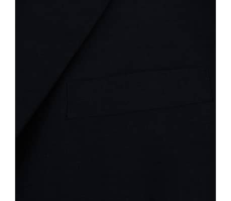 vidaXL Tvådelad kostym herrar svart strl. 52[3/8]