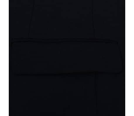 vidaXL Tvådelad kostym herrar svart strl. 52[4/8]