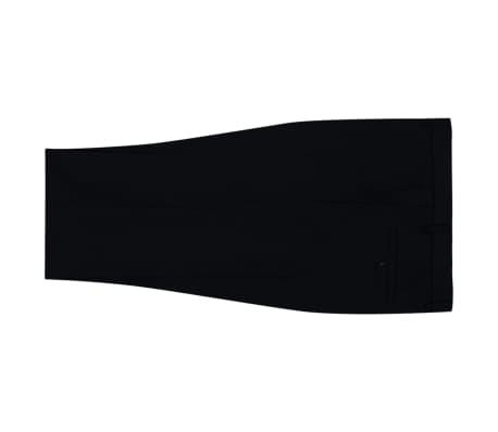 vidaXL Tvådelad kostym herrar svart strl. 52[5/8]