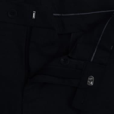 vidaXL Tvådelad kostym herrar svart strl. 52[7/8]