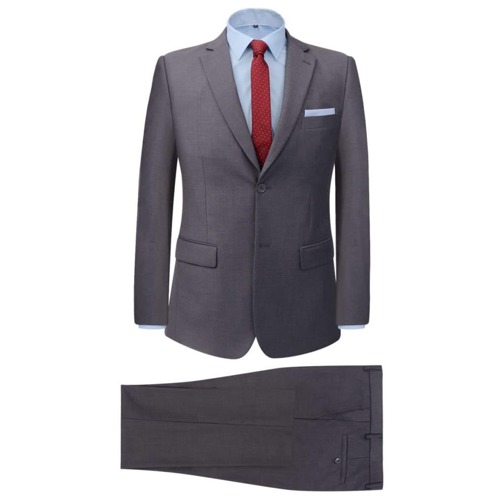 99131121 2-tlg. Business-Anzug für Herren Grau Gr. 46