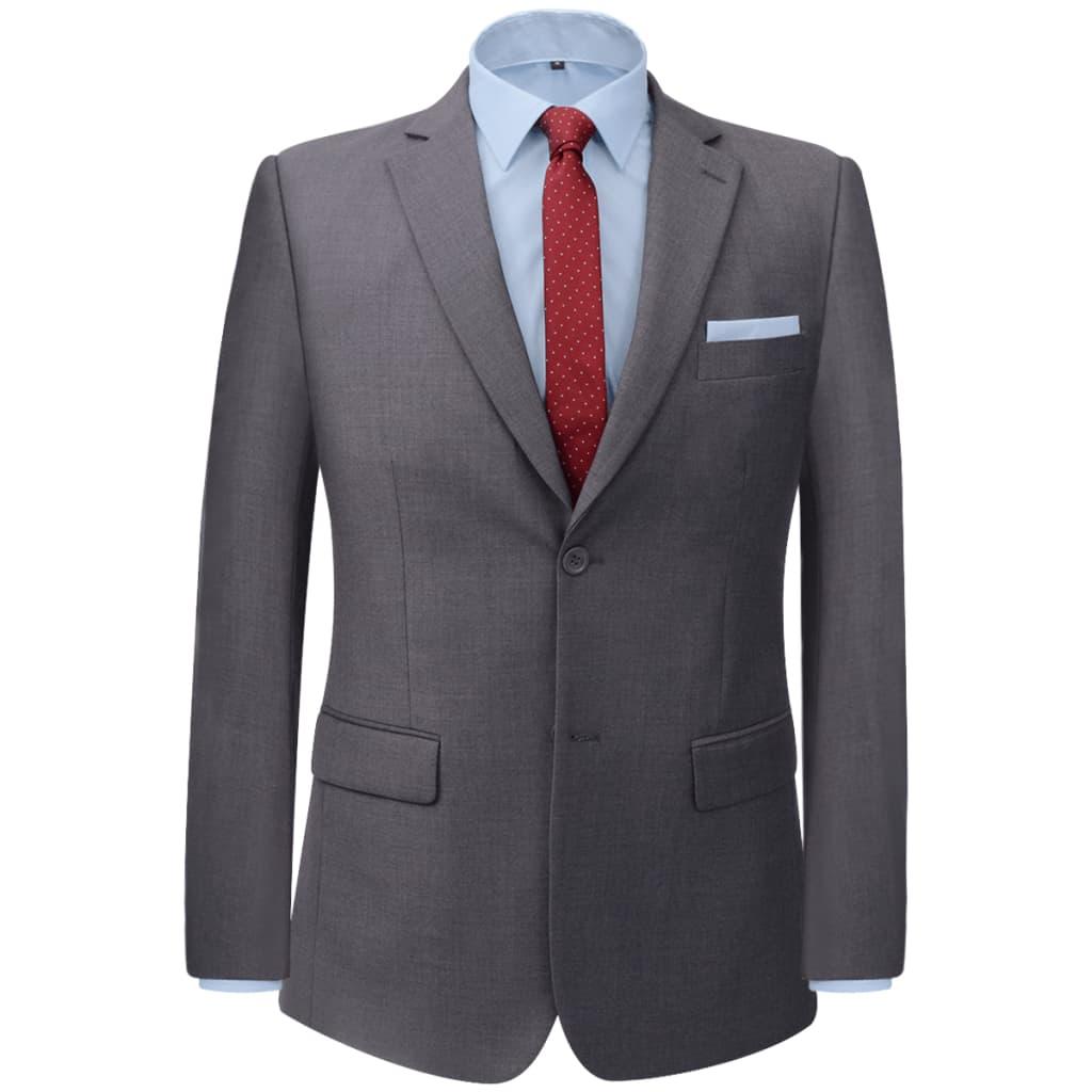 vidaXL Pánský dvoudílný business oblek šedý, vel. 46