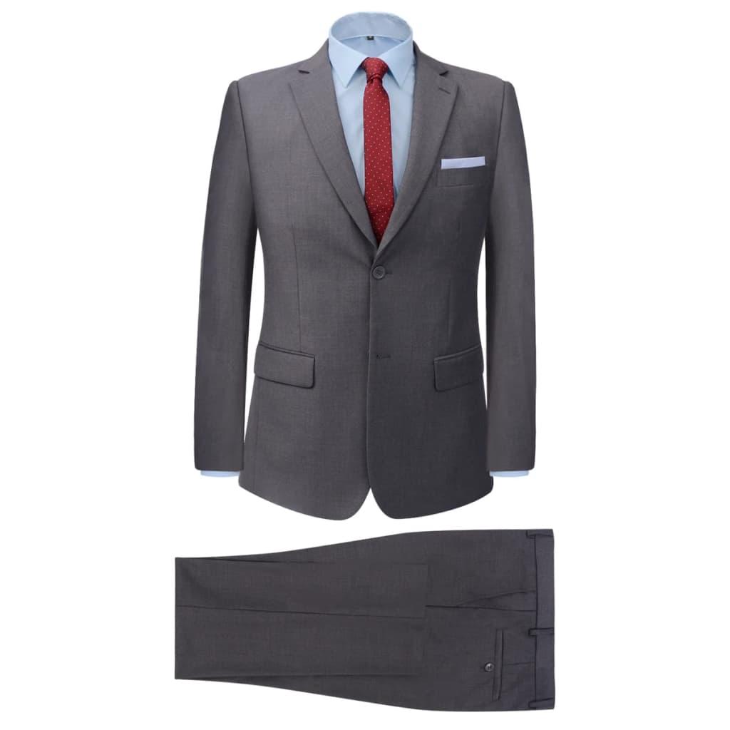vidaXL Pánský dvoudílný business oblek šedý, vel. 52