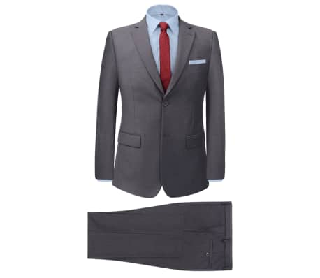 vidaXL Men's Two Piece Business Suit Grey Size 54