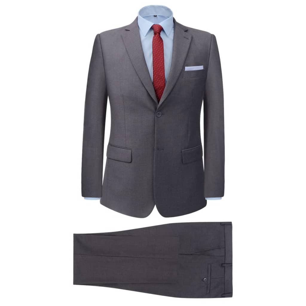 vidaXL 2-częściowy garnitur biznesowy męski szary rozmiar 56