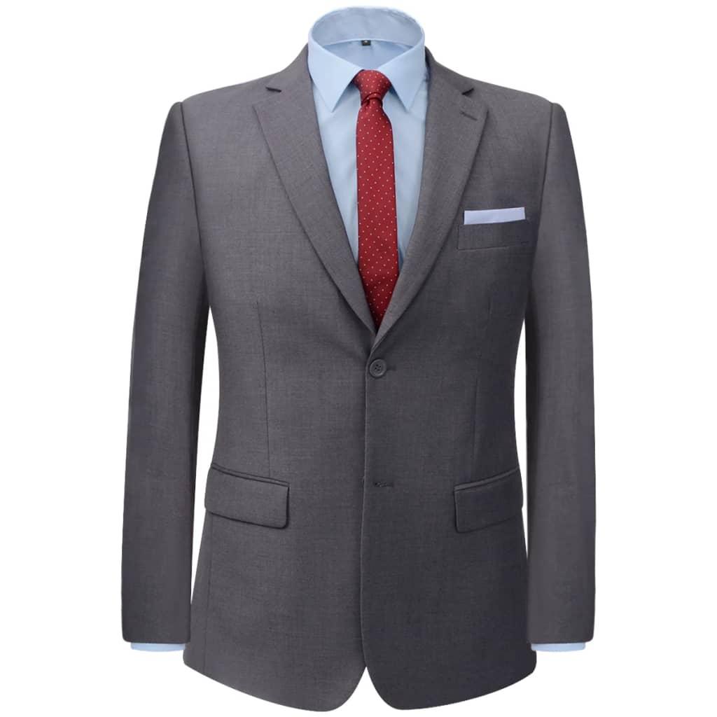 VidaXL Zakelijk pak tweedelig grijs mannen maat 56