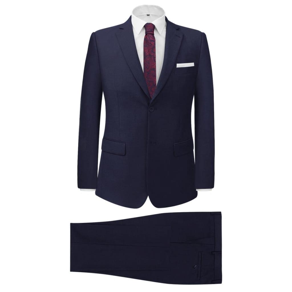 vidaXL Pánský dvoudílný business oblek námořnická modř, vel. 46