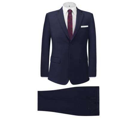 vidaXL divdaļīgs vīriešu uzvalks, 46. izmērs, tumši zils