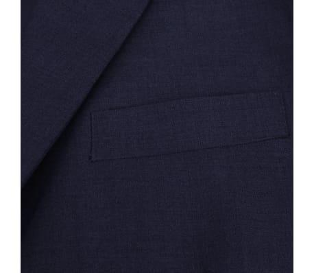 vidaXL Costum bărbătesc 2 piese mărimea 56 albastru închis[3/8]