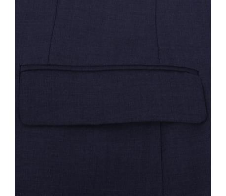 vidaXL Costum bărbătesc 2 piese mărimea 56 albastru închis[4/8]