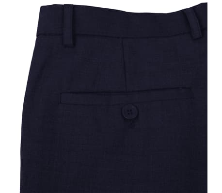 vidaXL Costum bărbătesc 2 piese mărimea 56 albastru închis[6/8]