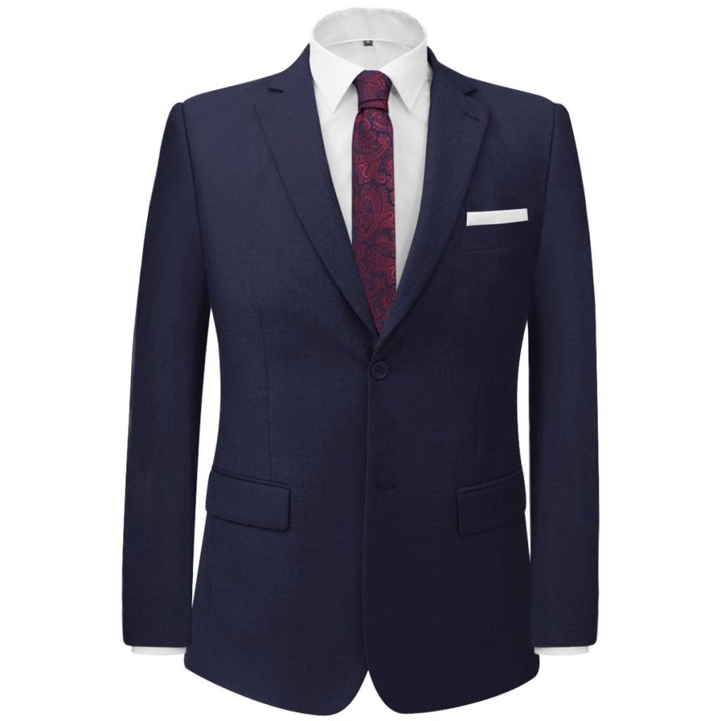 vidaXL Pánský dvoudílný business oblek námořnická modř, vel. 48