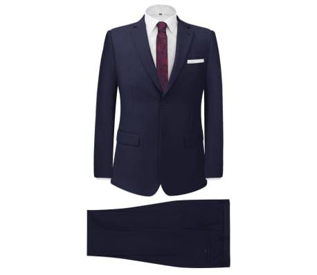 vidaXL divdaļīgs vīriešu uzvalks, 54. izmērs, zils