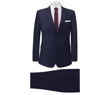 vidaXL 2-tlg. Business-Anzug für Herren Marineblau Gr. 56[1/8]