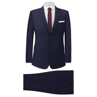 vidaXL Zakelijk pak tweedelig marineblauw mannen maat 56[1/8]