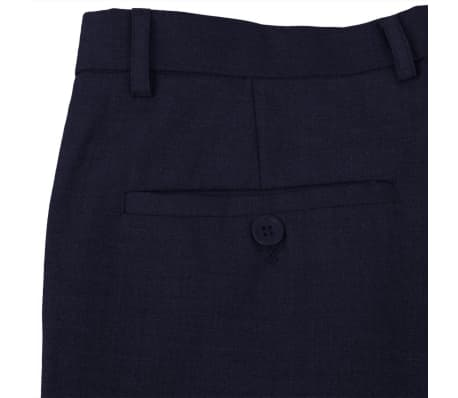 vidaXL 2-tlg. Business-Anzug für Herren Marineblau Gr. 56[6/8]