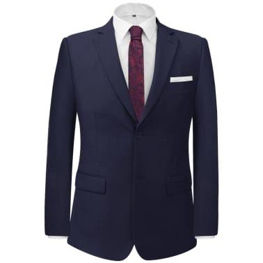 vidaXL 2-tlg. Business-Anzug für Herren Marineblau Gr. 56[2/8]