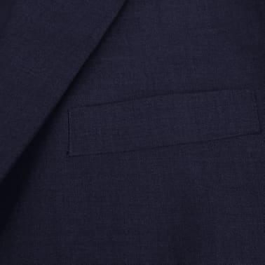 vidaXL Zakelijk pak tweedelig marineblauw mannen maat 56[3/8]