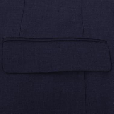 vidaXL Zakelijk pak tweedelig marineblauw mannen maat 56[4/8]