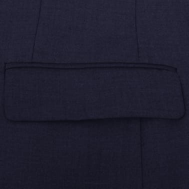 vidaXL 2-tlg. Business-Anzug für Herren Marineblau Gr. 56[4/8]