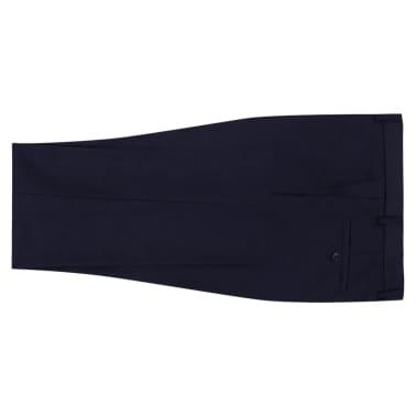 vidaXL Zakelijk pak tweedelig marineblauw mannen maat 56[5/8]