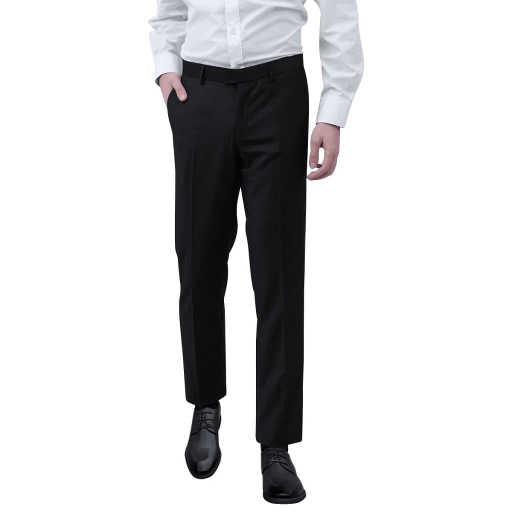 vidaXL Pánské společenské kalhoty černé vel. 46