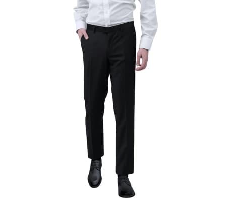 vidaXL Vyriškos Kostiuminės Kelnės, Juodos, Dydis 50