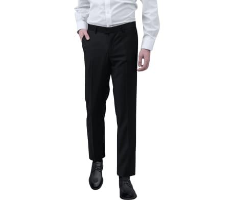 vidaXL Pantalones de vestir para hombre talla 54 negro
