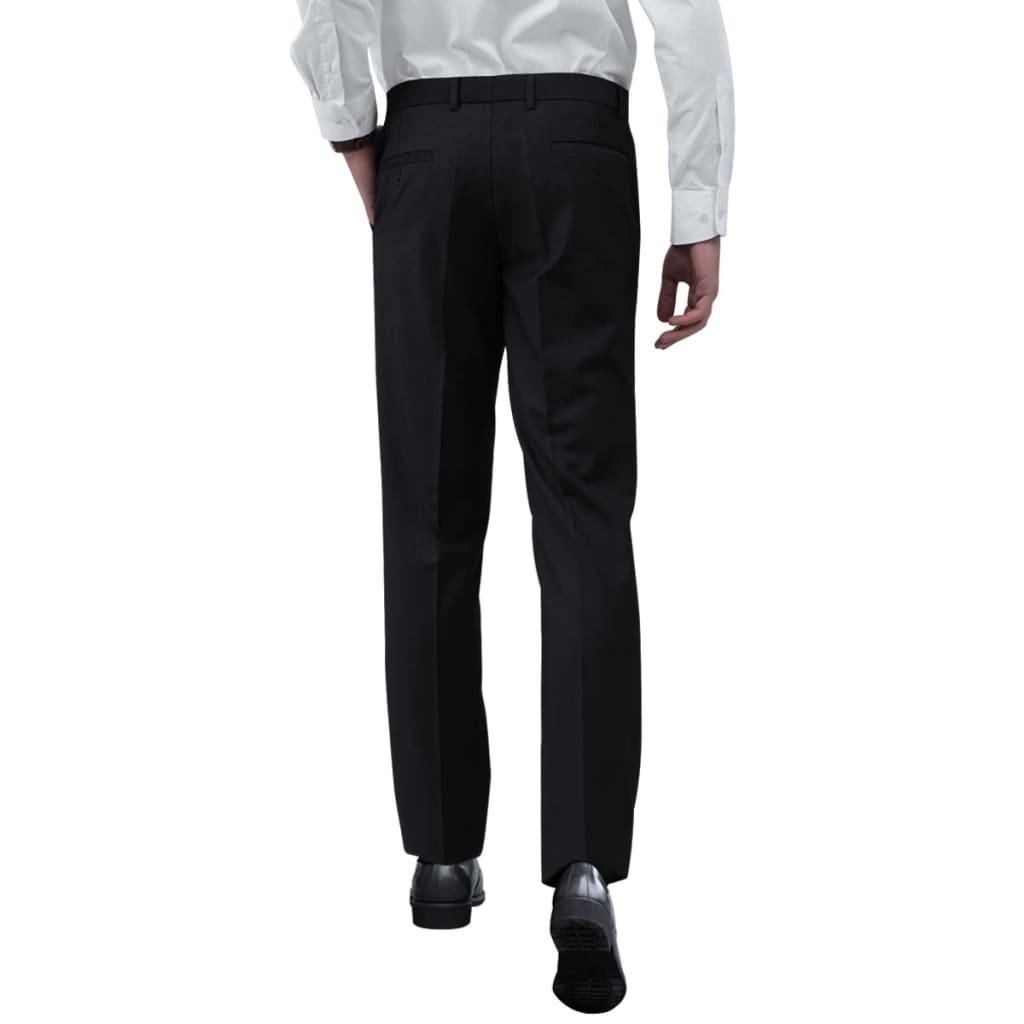 vidaXL Pánské společenské kalhoty černé vel. 56
