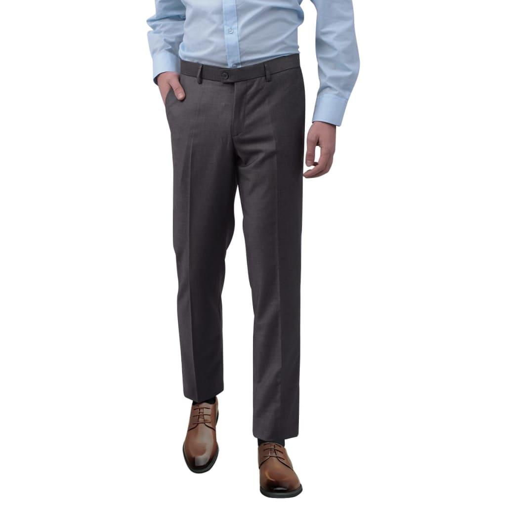 vidaXL Pantaloni bărbătești de costum, Gri, Mărimea 48 vidaxl.ro