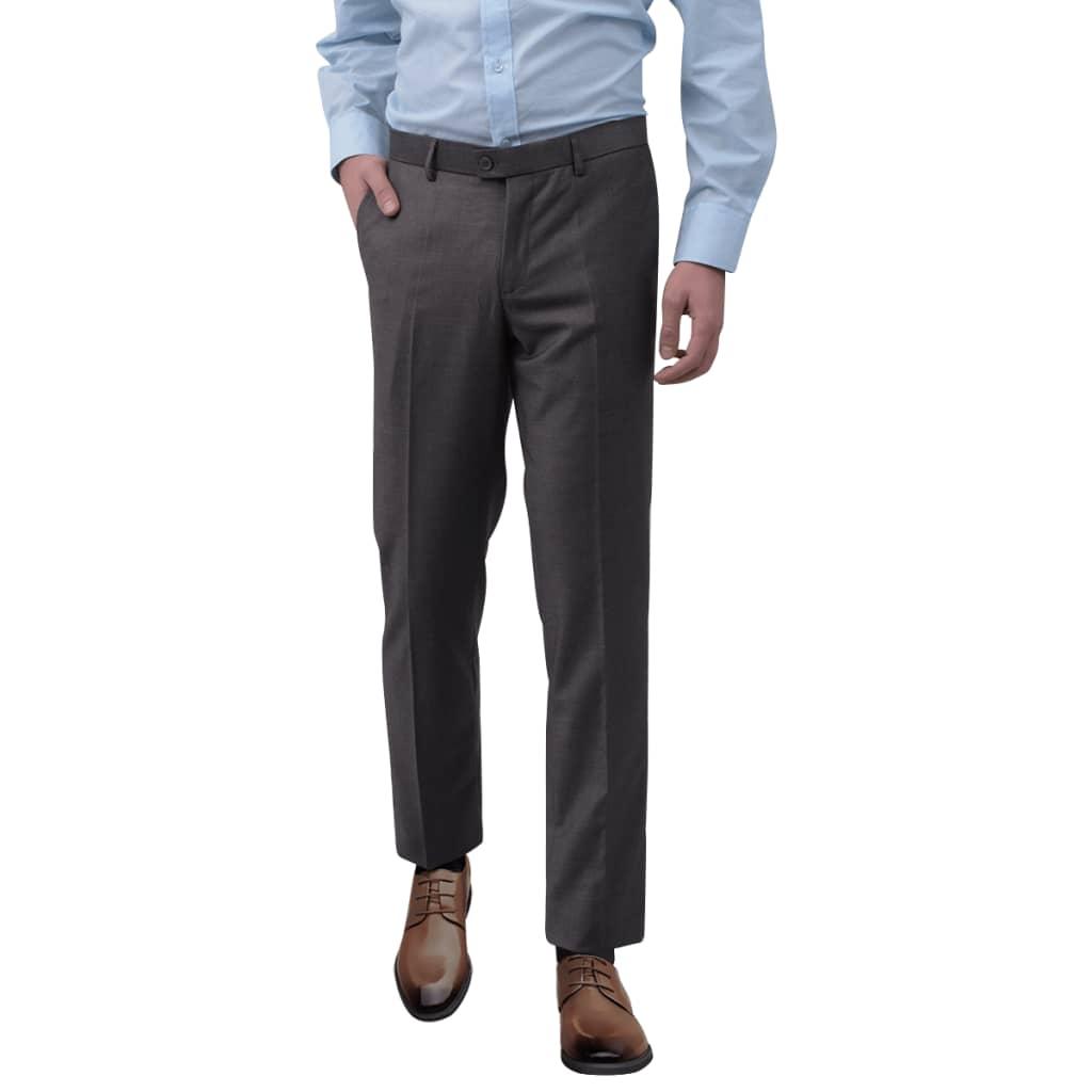 vidaXL Pantaloni bărbătești de costum, Gri, Mărimea 52 vidaxl.ro