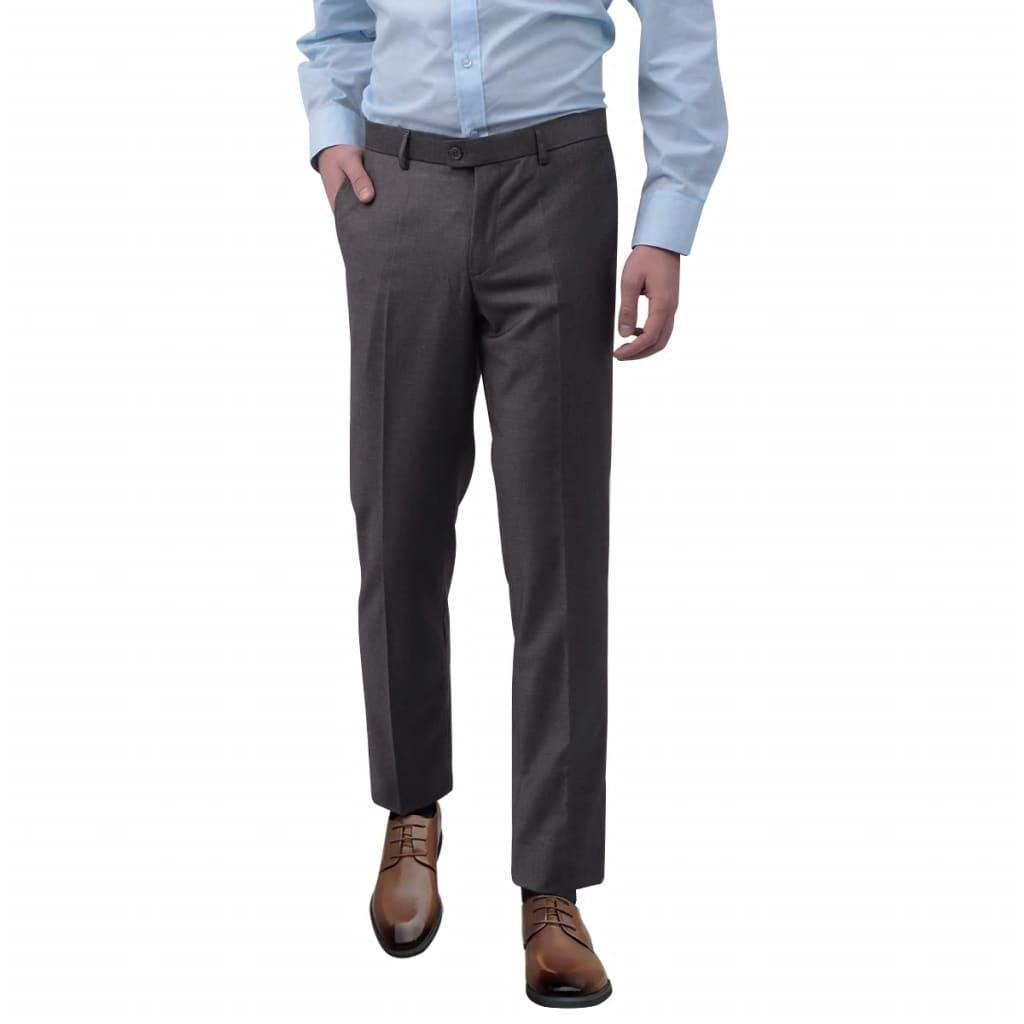 vidaXL Pantaloni bărbătești de costum, Gri, Mărimea 56 vidaxl.ro
