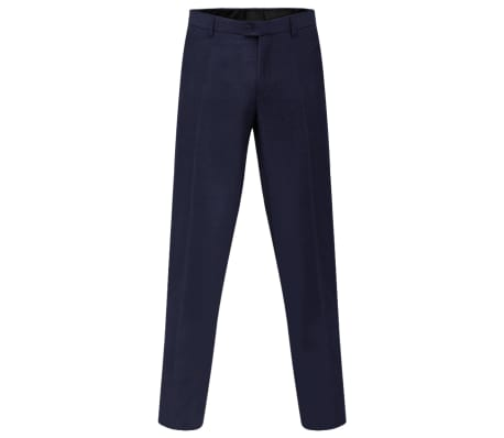 vidaXL Men's Dress Pants Navy Size 54[3/7]