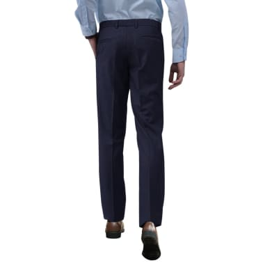 vidaXL Men's Dress Pants Navy Size 54[2/7]