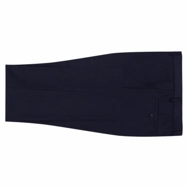 vidaXL Men's Dress Pants Navy Size 54[4/7]